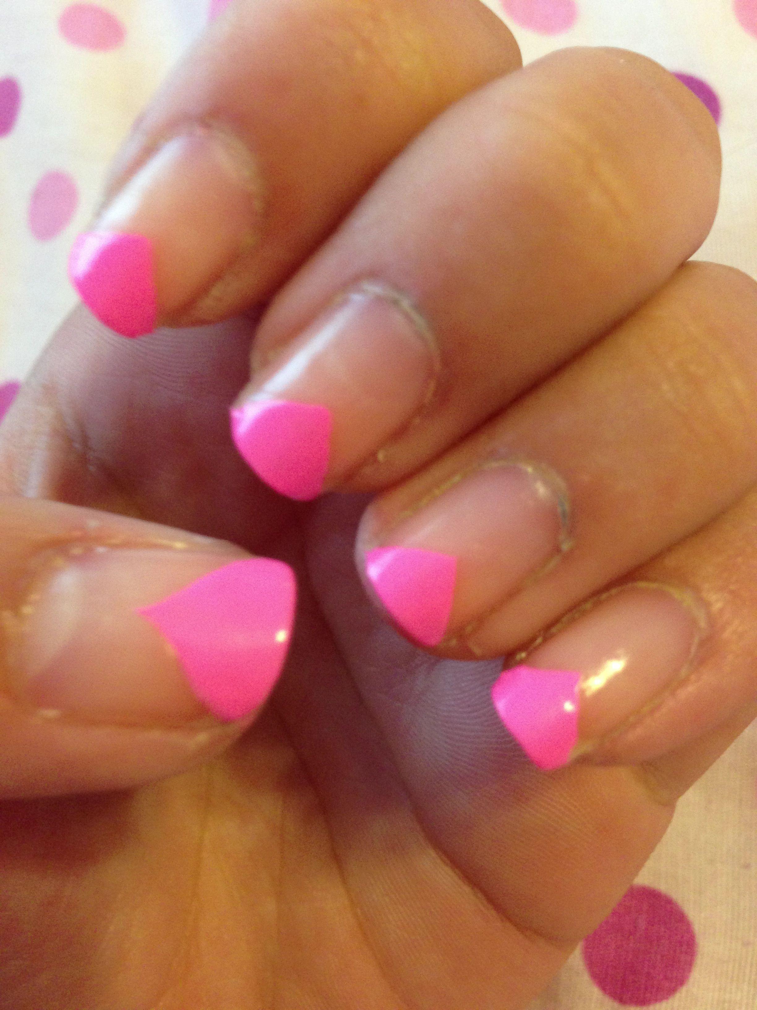 Neon french tip nails | Nails, French tip nails, Nail tips