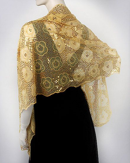 c2bf380ed4d91 Gold Formal Dressy Evening Shawl