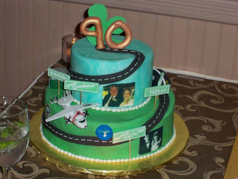 Grandpas 90th road of life cake cake ideas Pinterest Adult