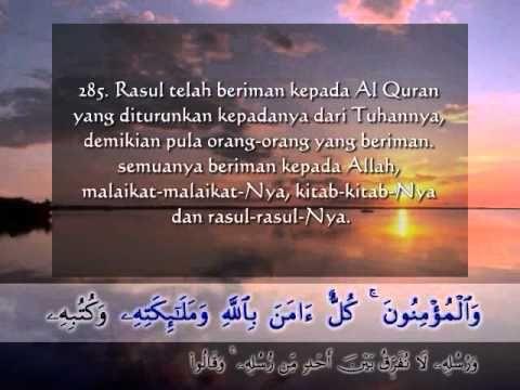 Surat Al Baqarah 3 Ayat Terakhir Dan Terjemah Indonesia Quran