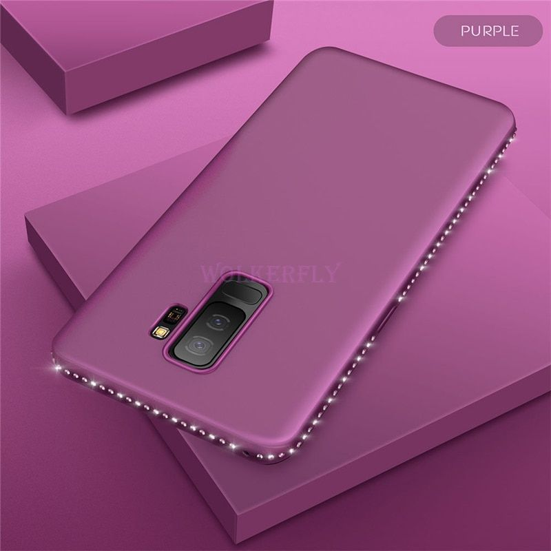 Us 0 89 25 Off Bling Diamond Case For Samsung Galaxy A8 A6 S8 S9