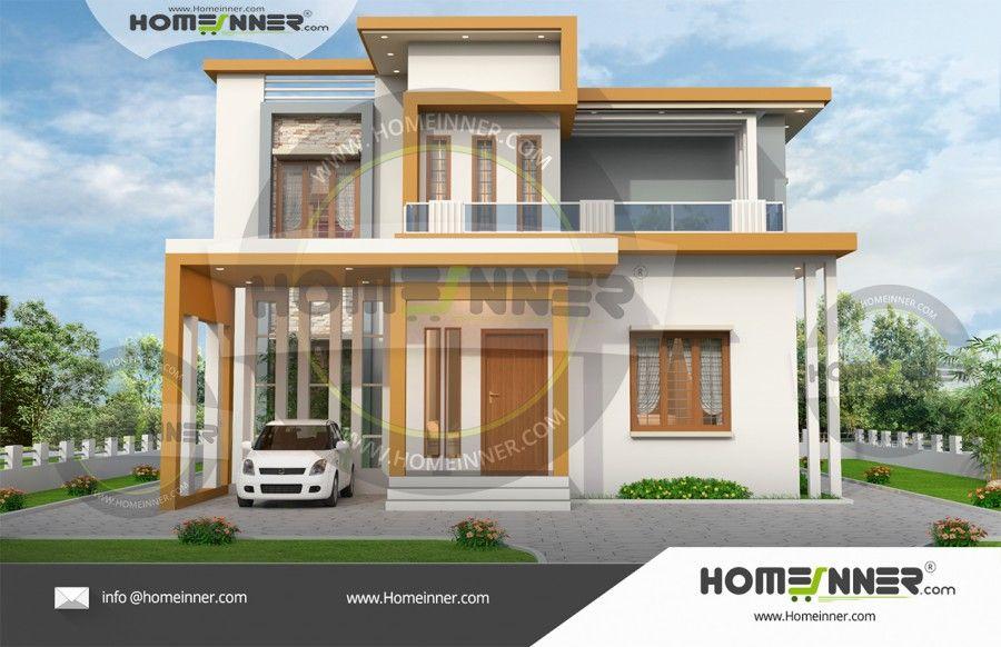 1500 Sq Ft 4 Bhk Residential House Plan Duplex House Design Kerala House Design House Design Photos