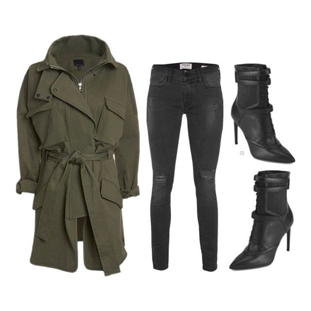 Marissa Webb anorak ($1155), Frame Denim jeans ($450) and Hugo Boss boots ($745) xx #Padgram