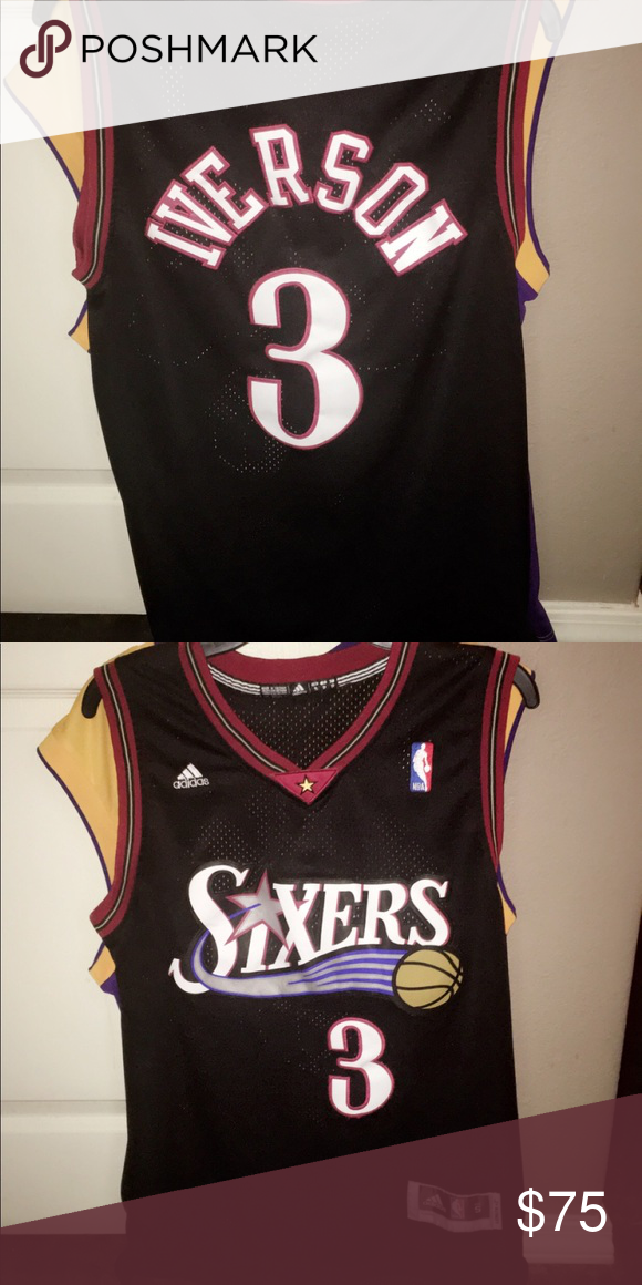 quality design e6134 a4228 Sixers Iverson Jersey Brand new never worn adidas Shirts ...