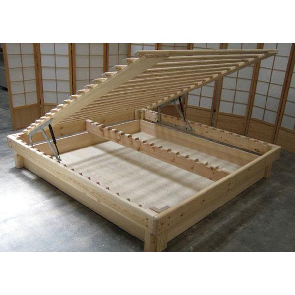 Esta cama de madera sostenible es una buena alternativa si - Somier japones ...