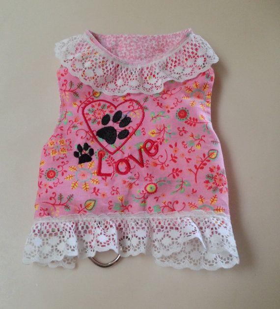 XS Pink Dog Harness Dress  Chihuahua Yorkie Small by RocknHotdog