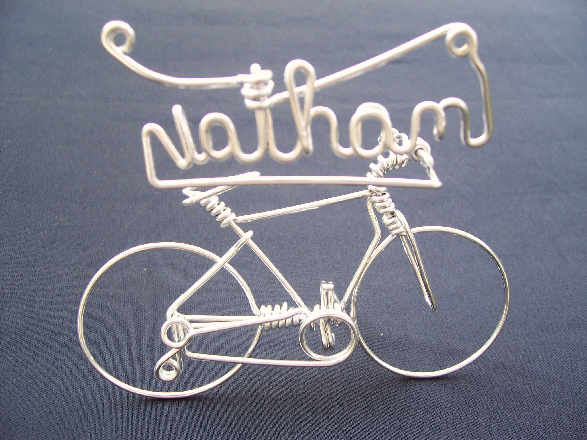Handmade Personalised Unique Birthday Biker Gifts for Cyclists ~ Custom Your Name on Mountain Bike as Bicycle Cake Toppers & Decorations- Cool Gift Ideas ...
