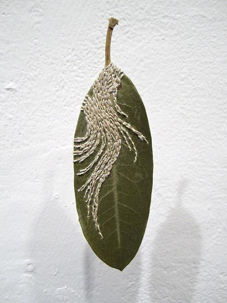 Embroidered Leaf 02, by Hillary Waters Fayle