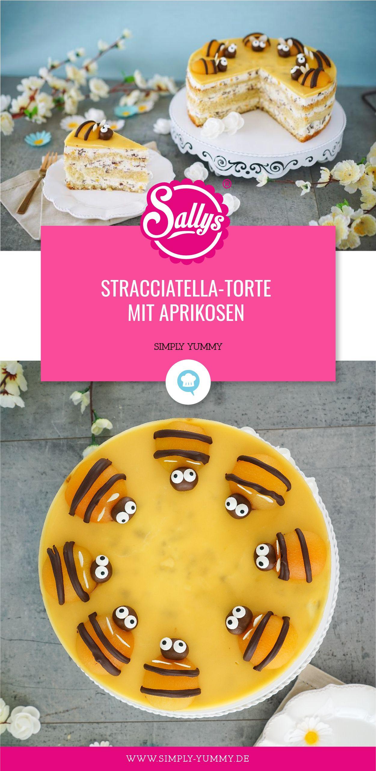 Stracciatella Torte Mit Aprikosen Rezept Blogger Rezepte Torte