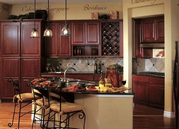 dark cherry kitchen cabinet makeover Winedark cherry for an