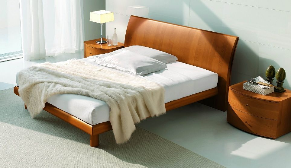 Stylish Beds platform king bed contemporary cherry hard wood | stylish cherry