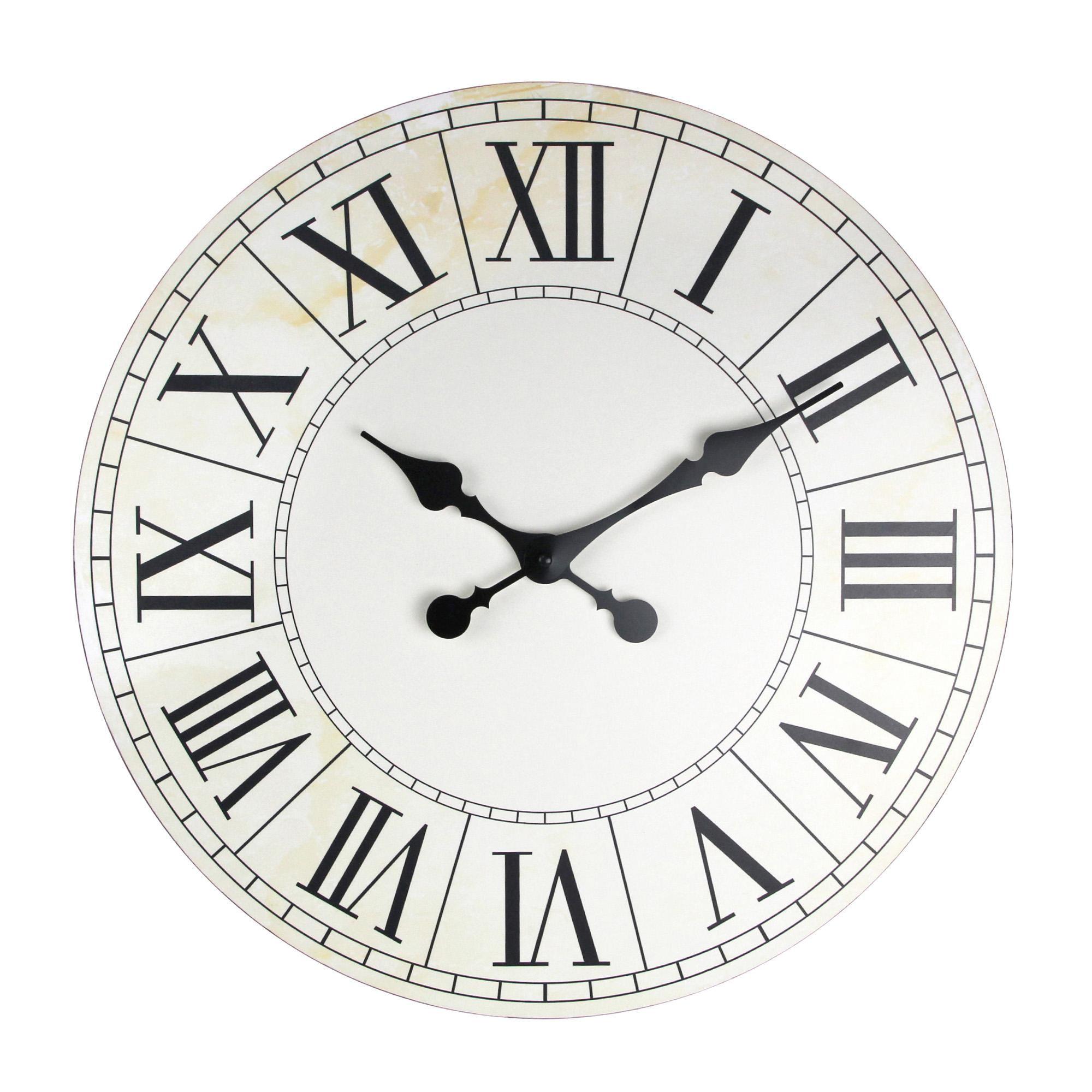 Dunelm White Wooden Roman Numeral Clock