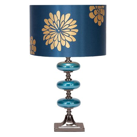 Set of two table l&s with floral drum shades. Product Set of 2 table l&s Construction Material Glass.  sc 1 st  Pinterest & Set of two table lamps with floral drum shades. Product: Set of 2 ...