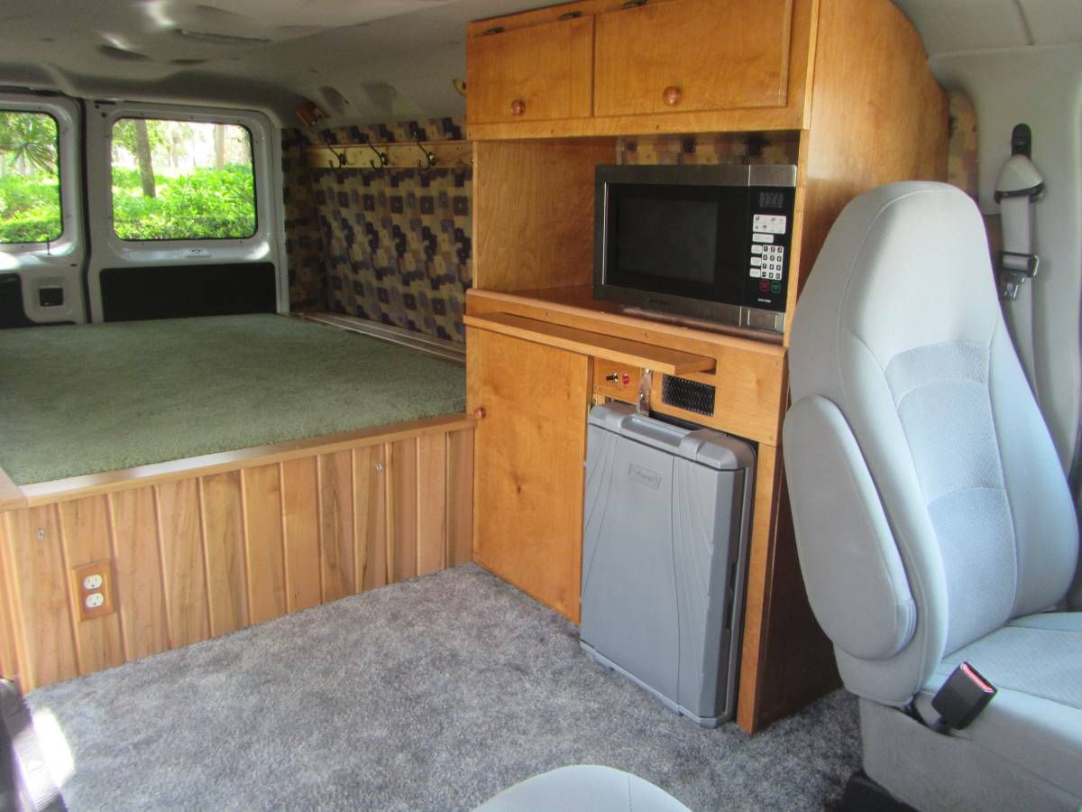 interior of stealth camper - Ford E150 - no link but pic is