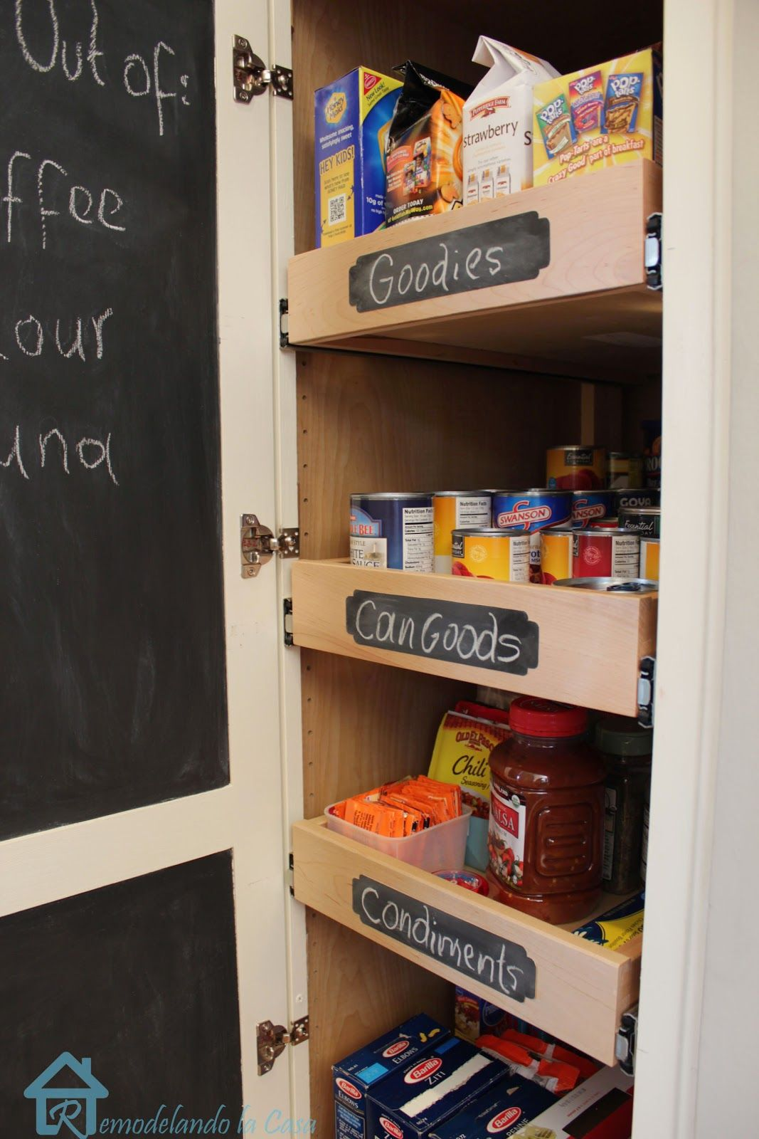 Kitchen organization pull out shelves in pantry shelving pantry