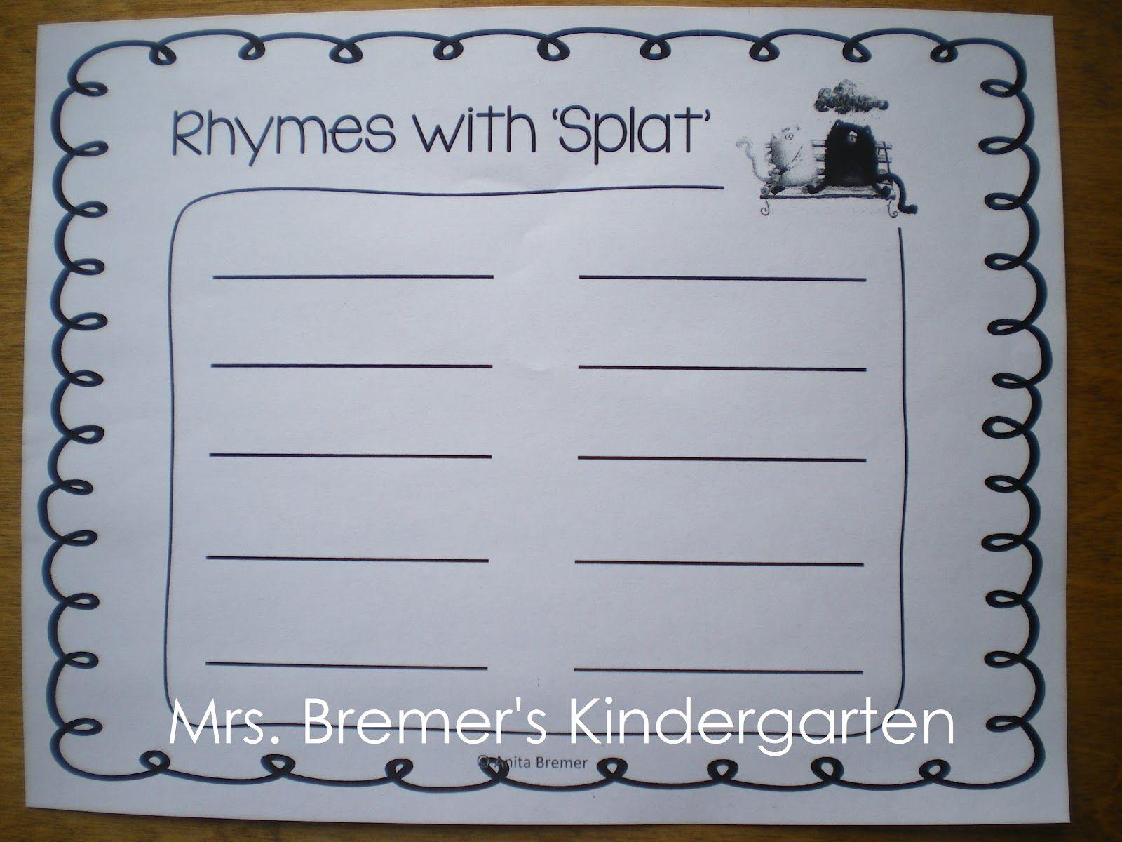 Mrs Bremer S Kindergarten Love Splat Freebies