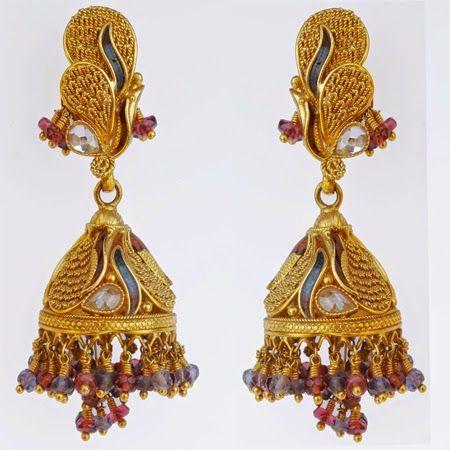 Gold Jewelry Earring Beautiful latest design 2015 11 Girls