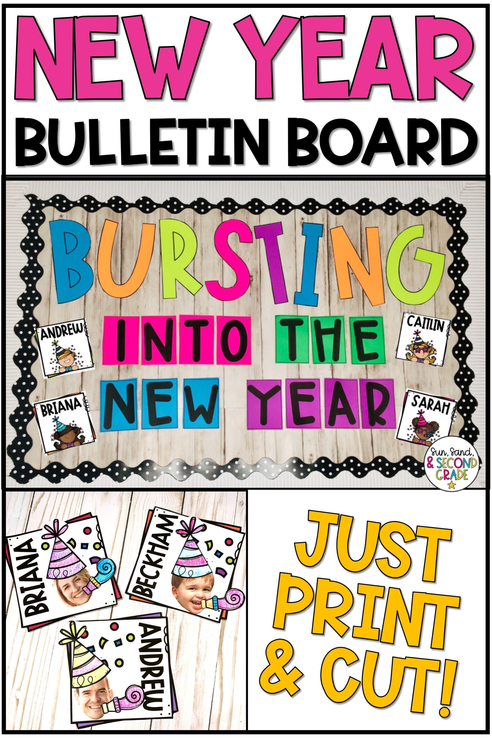 New Year Bulletin Board or Door Decoration Classroom