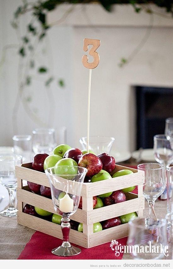 Idea original para centro de mesa en boda caja de for Mesas de centro originales y baratas