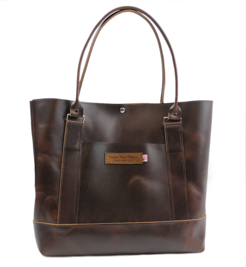 The Westfield Full Grain Leather Tote Bag Coffee Brown Made In U S A 16 Wst Fld Tot Cof Exl