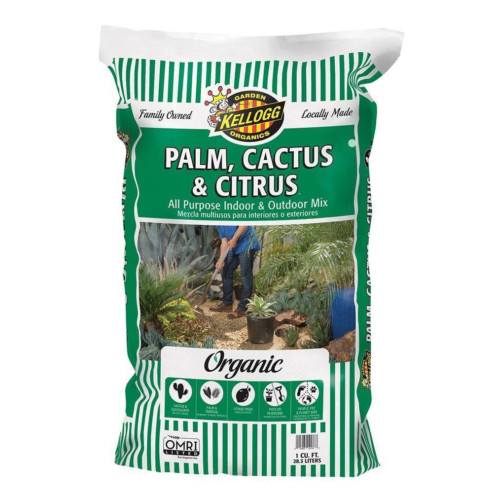 Best Soil For Succulents Kellogg Garden Organics 1 Cu Ft Palm