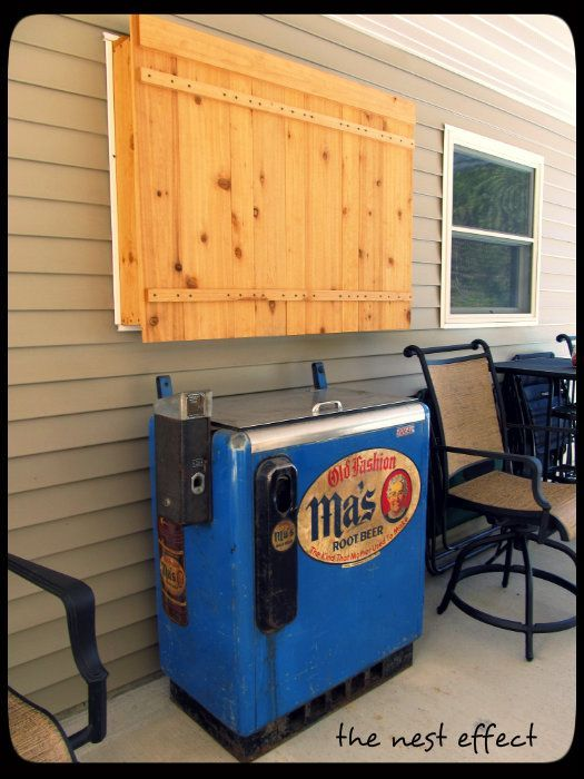 Hide Outdoor Tv The Wooden Box To House A Tv Or Hide Meter Don 39 T Forget Peep Hole So