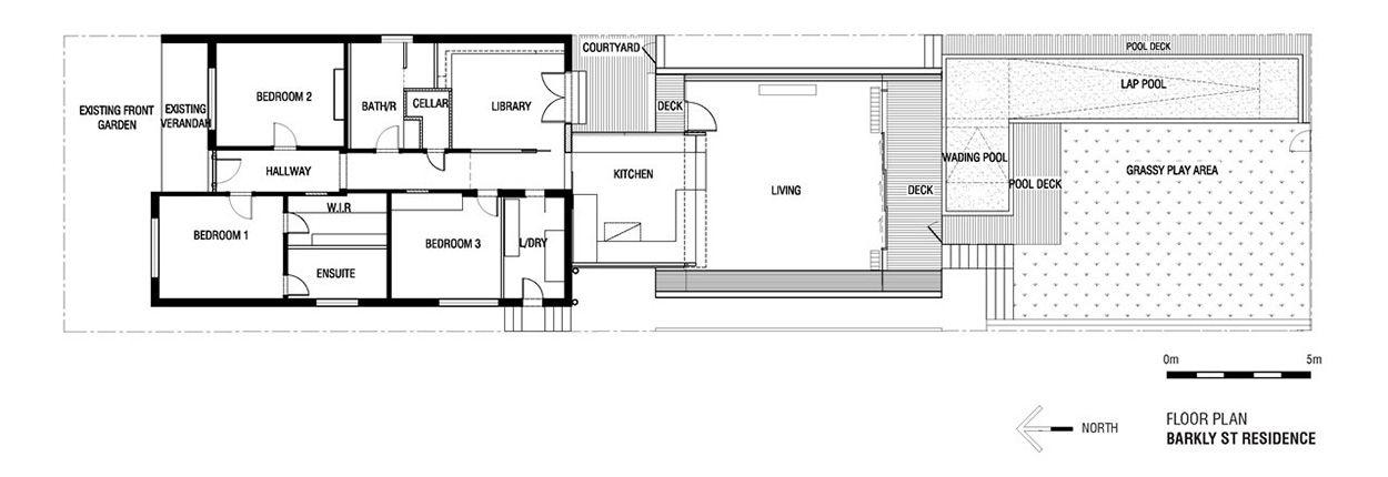 Floor Plan, Cloud House, Melbourne by McBride Charles Ryan