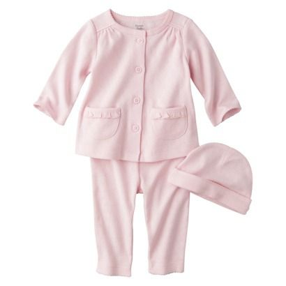 PRECIOUS FIRSTS™Made by Carters® Newborn Girls' 3 Piece Layette Set - Pink $9.99