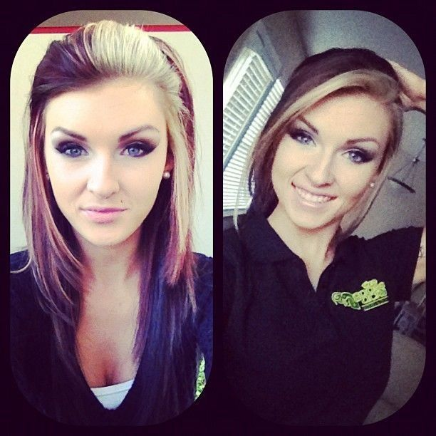Someday when I feeling extra adventurous. Two toned hair.