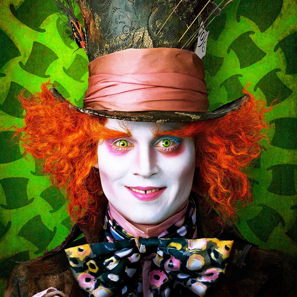 Johnny Depp Mad Hatter Alice Wonderland