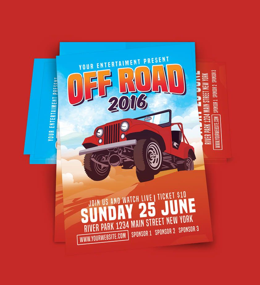 Car Off Road Flyer Template PSD Flyer Templates Pinterest - car flyer template