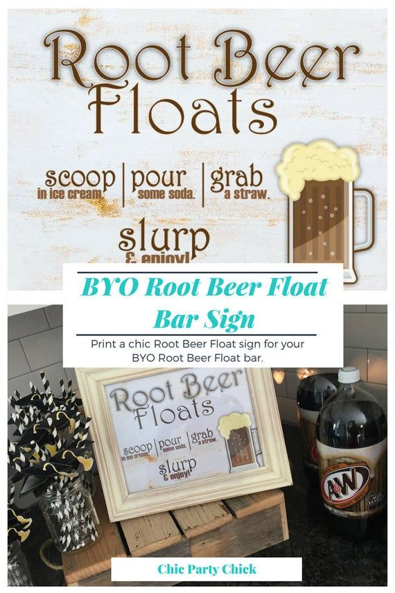 Root Beer Float Bar Sign for a BYO Bar printable sign image 2 #rootbeerfloat