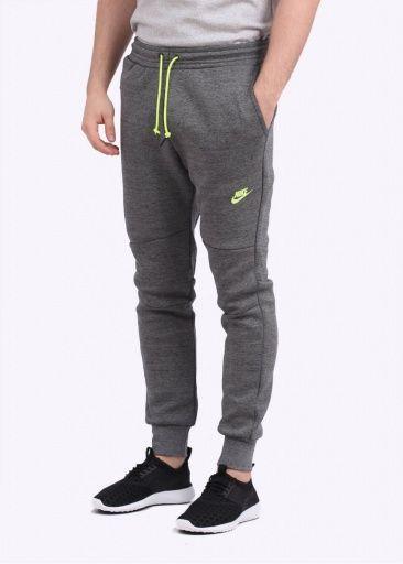 buy popular 41228 fb5e0 Nike Apparel Tech Fleece Jogging Pants - Tumbled Grey   Volt