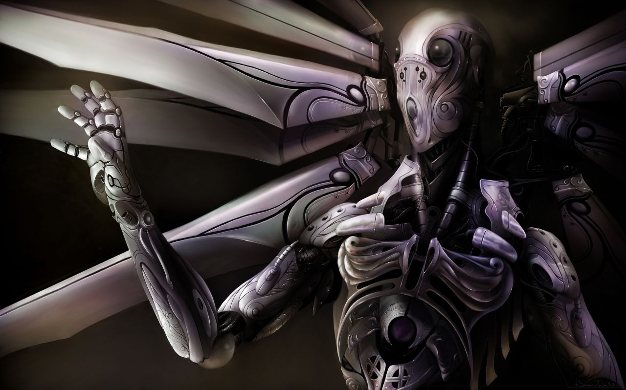 Foo Fighter Picture (2d, sci-fi, angel, robot, chrome