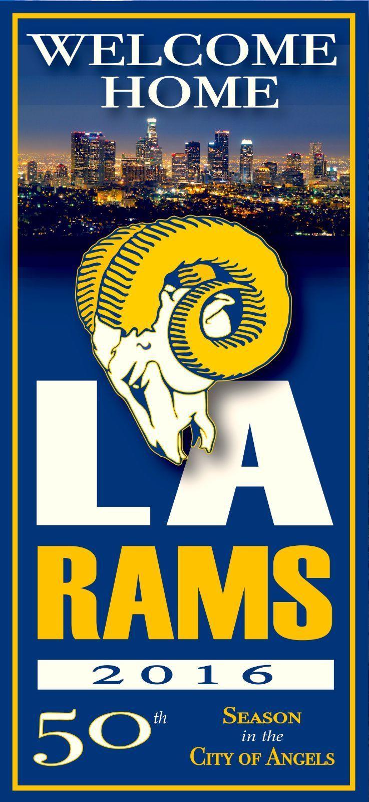 LA Rams Graphic Wall Sticker - Rams Decor, Los Angeles Rams Vinyl ...