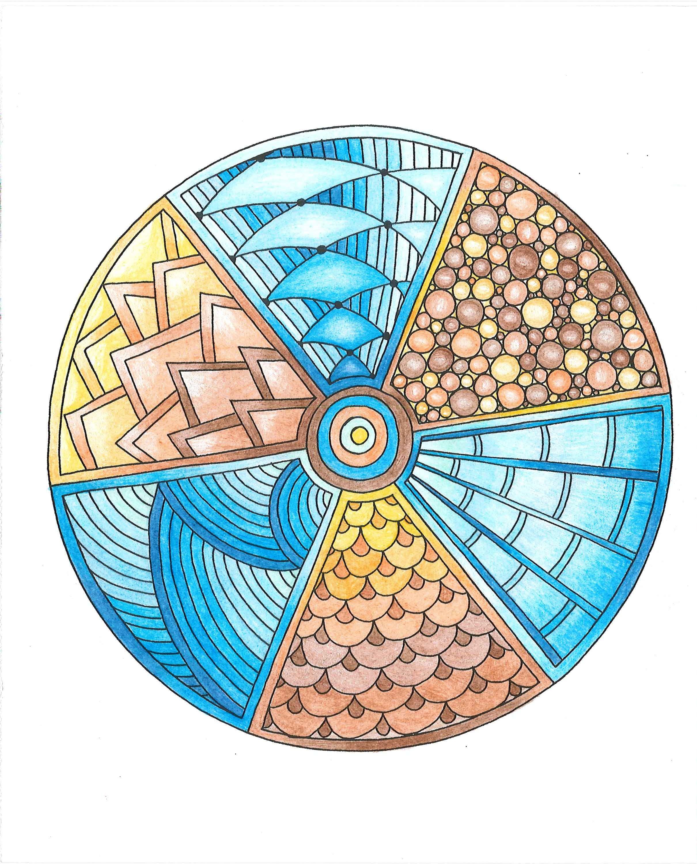 From zendoodle inspiring zendalas colored with utrecht
