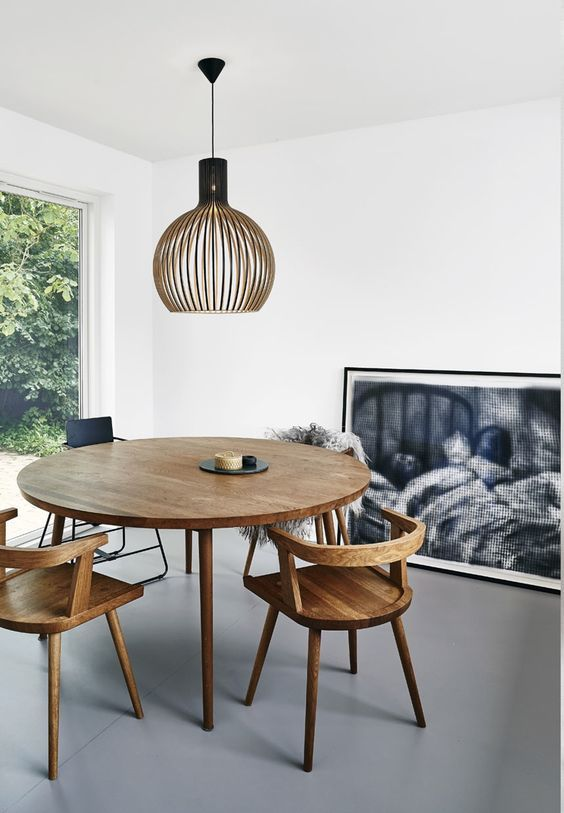 10 Dining Rooms For The Neutral Lover Salle A Manger Table Ronde Table Salle A Manger Et Salle A Manger Petit Espace