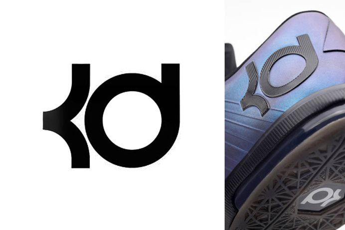 Kevin Durant Logo In Logos Of Great Athletes Logo Images Cool Logo Creative Logo