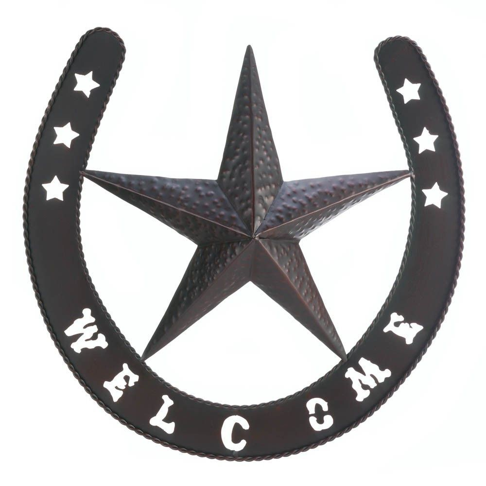 Metal Star Wall Decor Western Star And Lucky Horseshoe Welcome Wall Decor Western