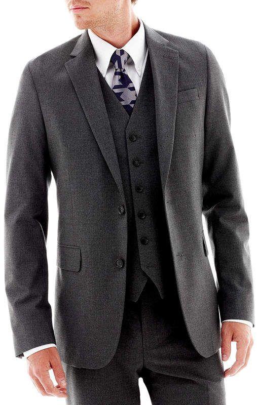 1de4552323bc Jf J.Ferrar JF Stretch Gabardine Suit Jacket - Classic Fit ...