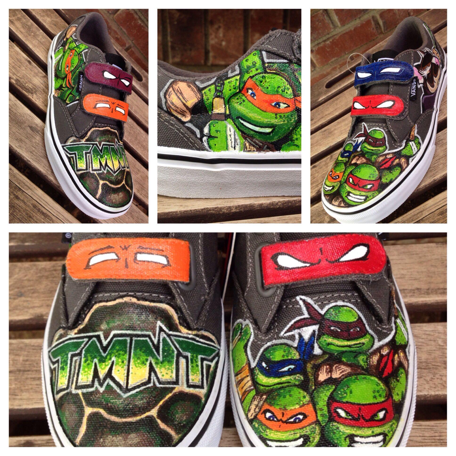 23ffa631b020b5 Custom Teenage Mutant Ninja Turtle vans GS size 2. COWABUNGA DUDE ...