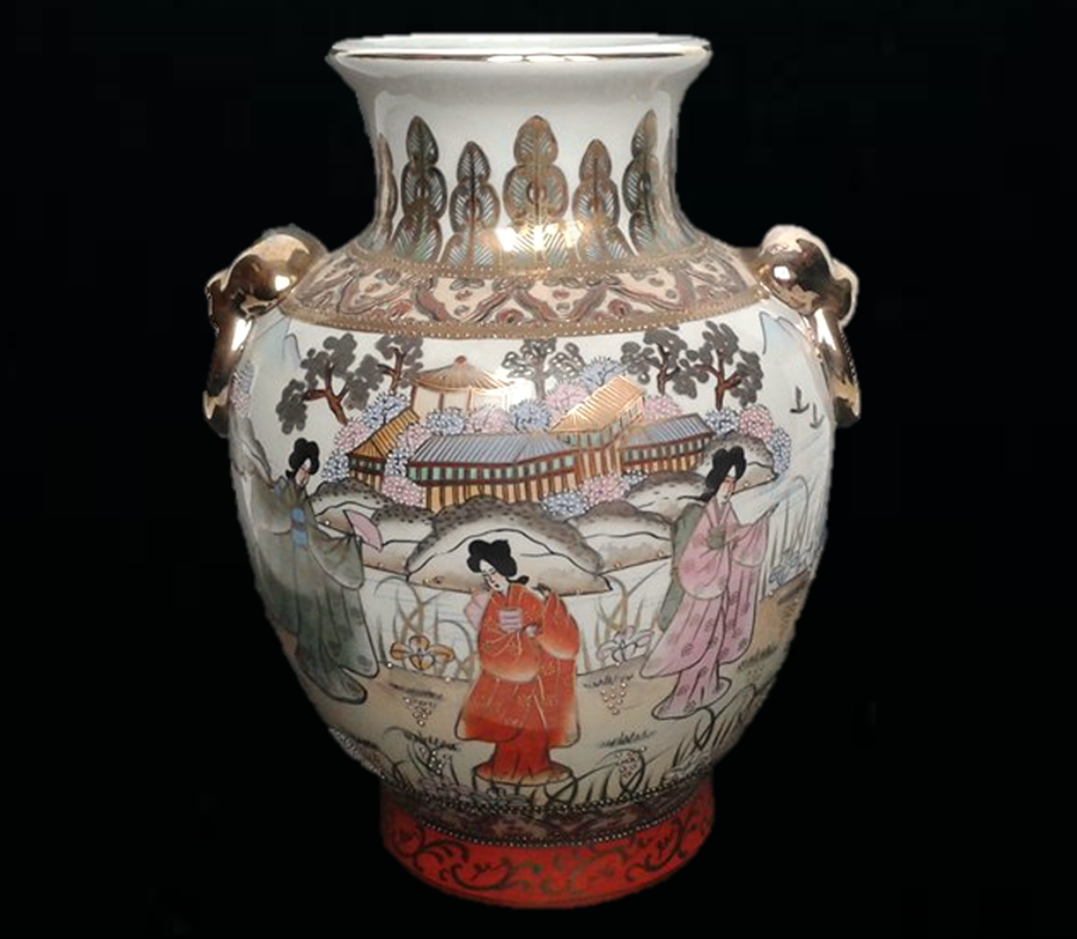 This unique vintage or antique hand painted nippon vase features this unique vintage or antique hand painted nippon vase features depictions of japanese or asian women dressed in traditional clothing who are standing in a reviewsmspy