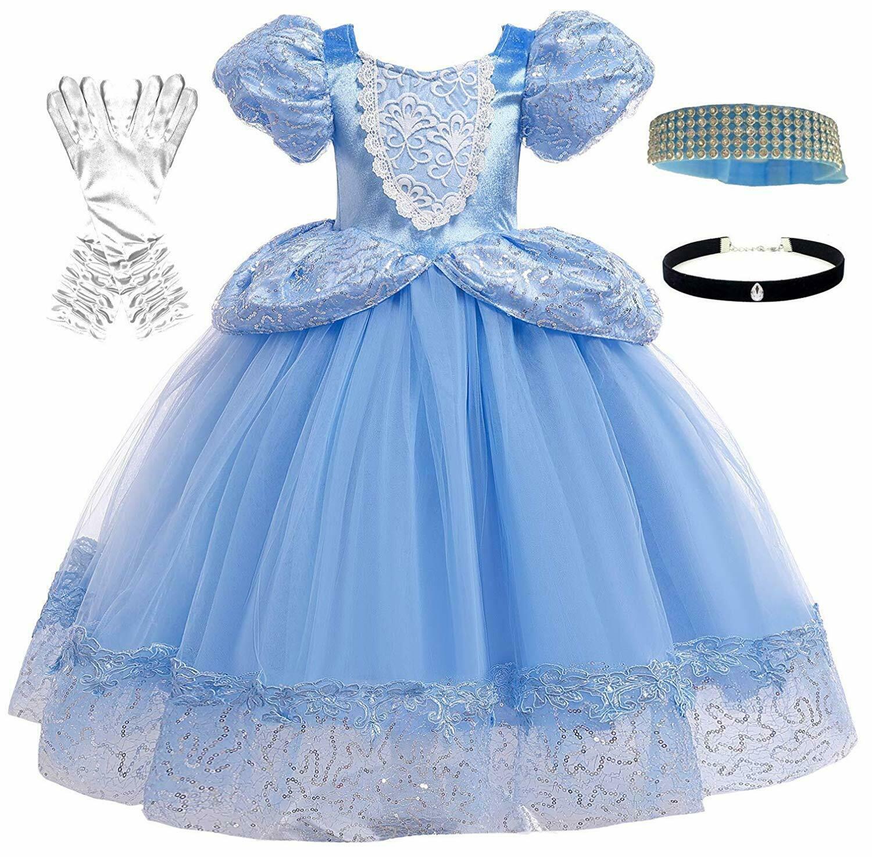 Romy S Collection Princess Blue Cinderella Costume Party Dress Up Set Cinderella Costume Birthday Party Dress Princess Dress
