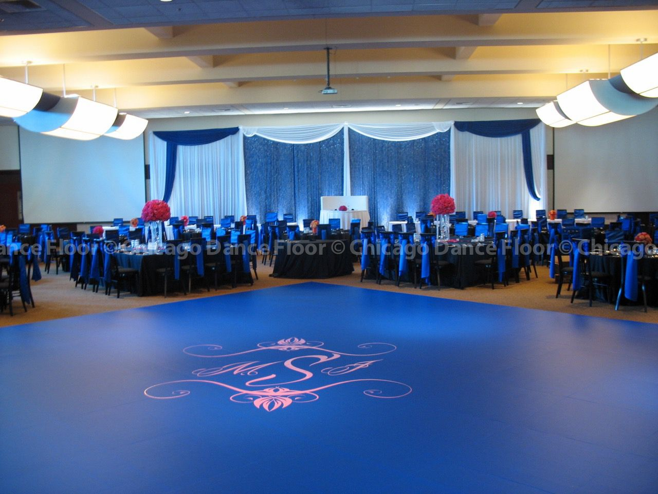 Our vinyl dance floor covers transform standard wood dance for Floor and decor chicago