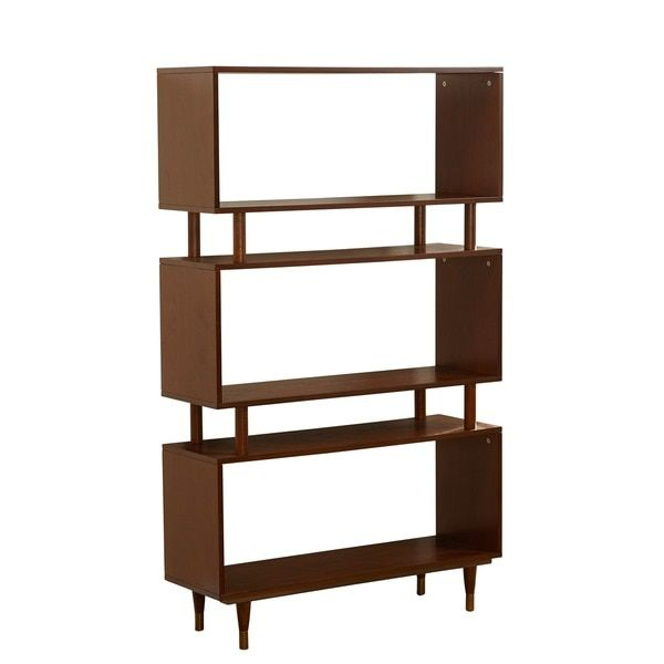 Simple Living Margo Mid Century 3 Shelf Bookshelf Ping