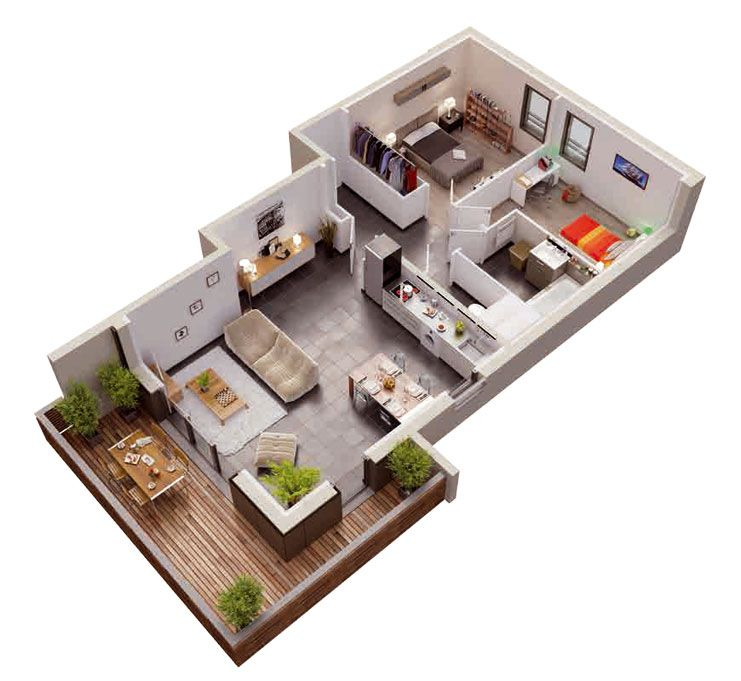 plan appartement 70m2