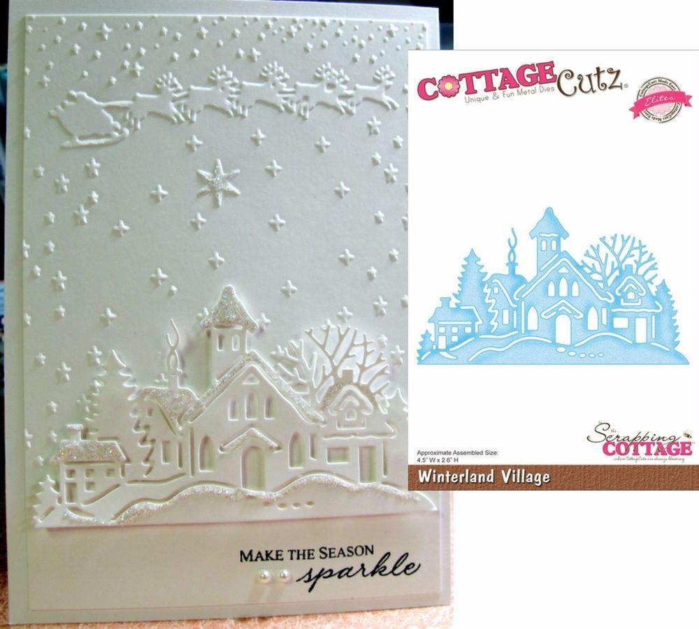 Church Winterland Village Metal Die Cottage Cutz Dies CCE-054 Winter Christmas
