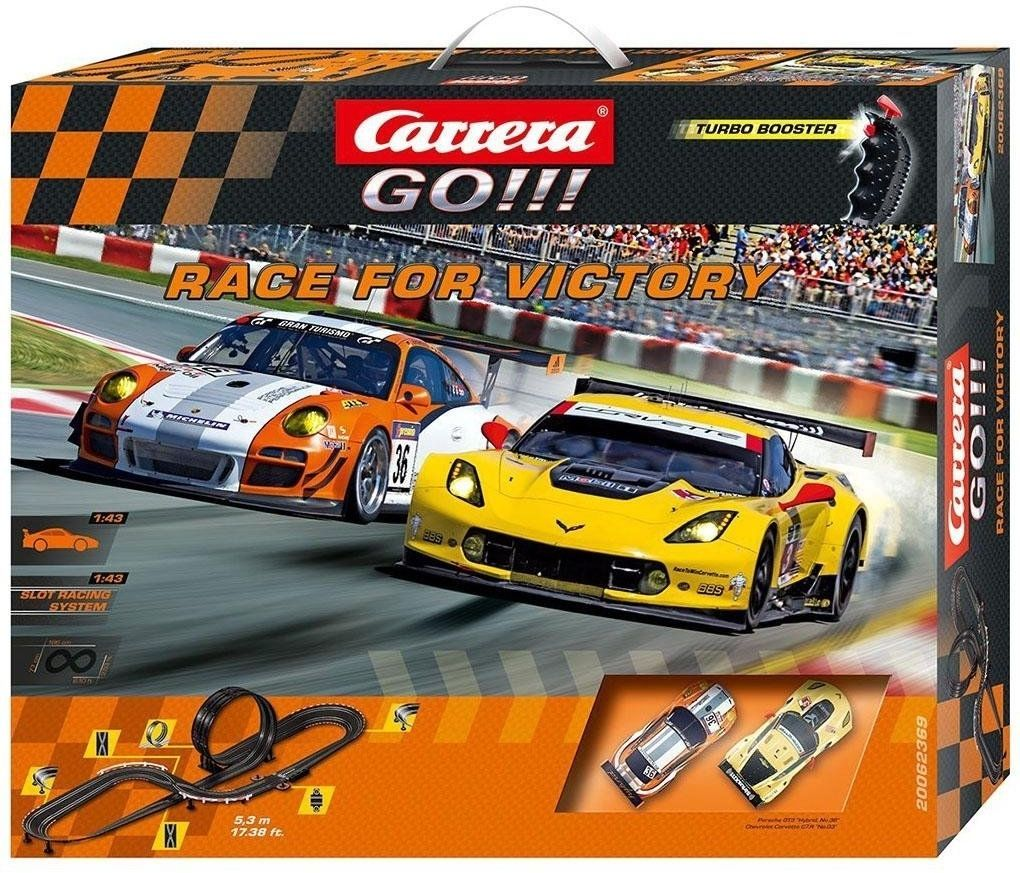 New Carrera Go Race For Victory Fast Race Cars Track Kids Speed Driving Indoor Slot Car Sets Slot Cars Slot Car Racing