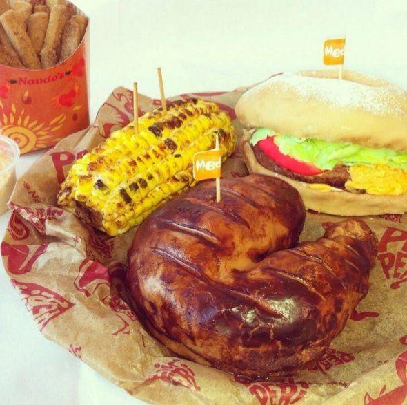 Nando's Chicken and Burger Cake