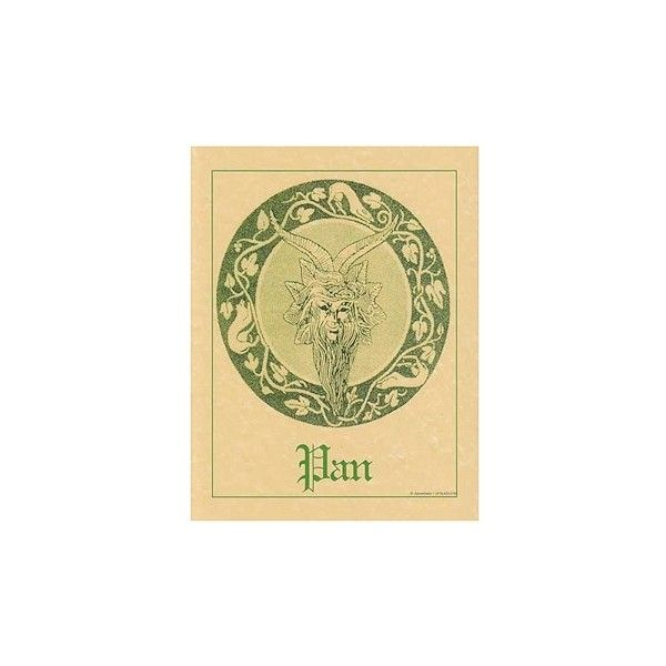 Pagan Parchment Poster - Pan | The Magickal Cat Online Pagan/Wiccan ...